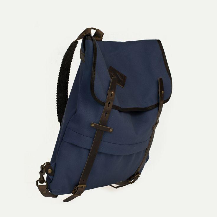 Coursier Indigo. Bleu de Chauffe. Made in France #backpack #bleudechauffe