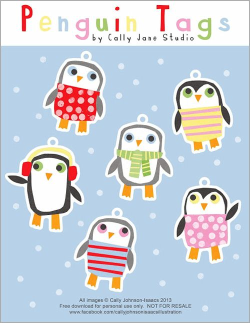 Free Printable Penguin Gift Tags