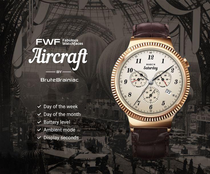Aircraft watch face by BruteBrainiac / #fwf #fabulouswatchfaces #androidwear #moto360 #huaweiwatch #tagheuer #huaweiwatch #smartwatch #watchface