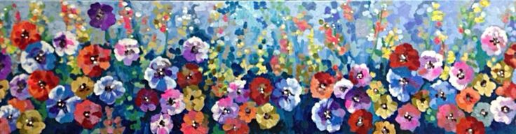 Original Field Of Flowers Painting By Artist joJo spook