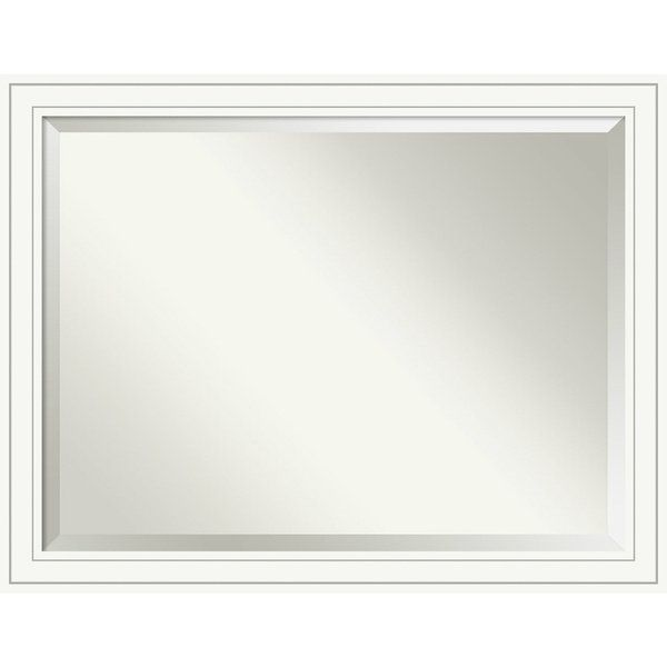 Bathroom Mirror Oversize Large, Fits Standard 36-inch to 48-inch Cabinet, Craftsman White 45 x 35-inch