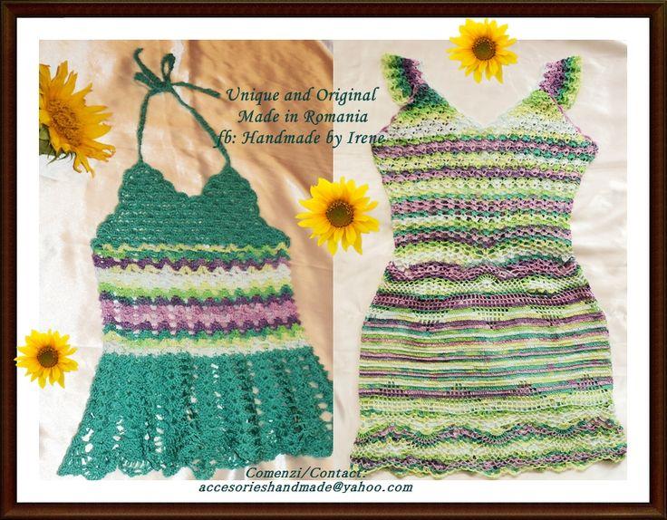 crochet mom&girl dresses