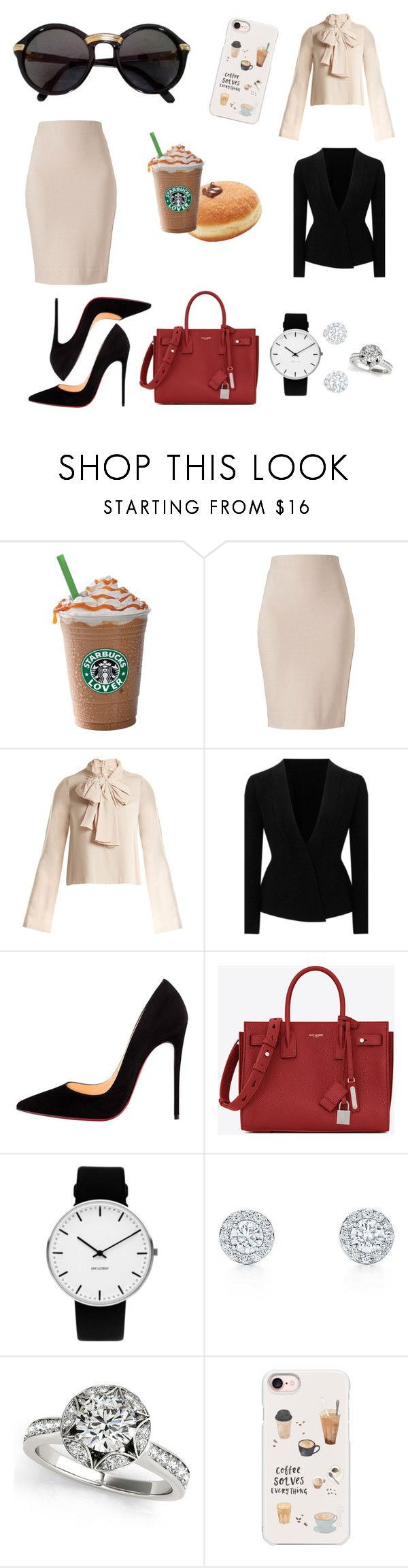 """fashion office"" by rossinigiorgia ❤ liked on Polyvore featuring Winser London, Khaite, Roland Mouret, Christian Louboutin, Yves Saint Laurent, Rosendahl, Casetify and Cartier"