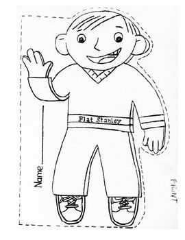 Flat stanley lesson plans and flats on pinterest for Free printable flat stanley template