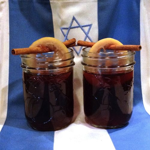 Mulled Wine Cocktail - A traditional warm welcome for your #Thanksgivukkah guests, using a very traditional wine.