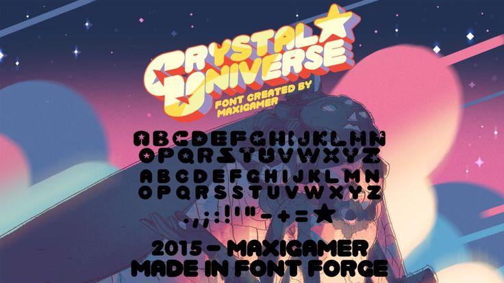 Crystal Universe FONT by MaxiGamer.deviantart.com on @DeviantArt