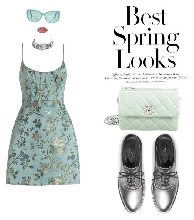 """""""Zimmermann"""" by mariapauladiaz142 on Polyvore featuring Zimmermann, H&M, Max&Co., Linda Farrow, Bling Jewelry, Lime Crime and Chanel"""