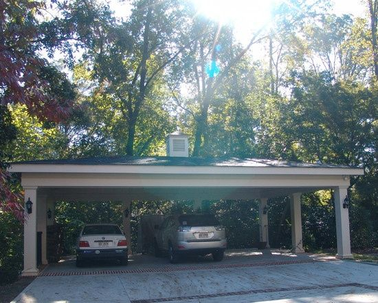 18 best images about detached garages on pinterest see for Detached garage with carport