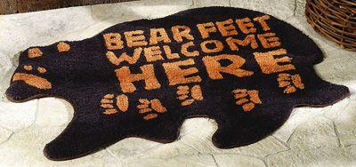 Bear Feet Welcome Rug Northwoods Home Decor