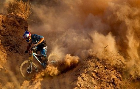 Extreme Downhill Mountain Biking Red Bull Picture
