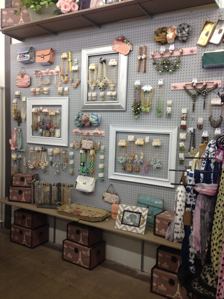 Peg board jewelry wall