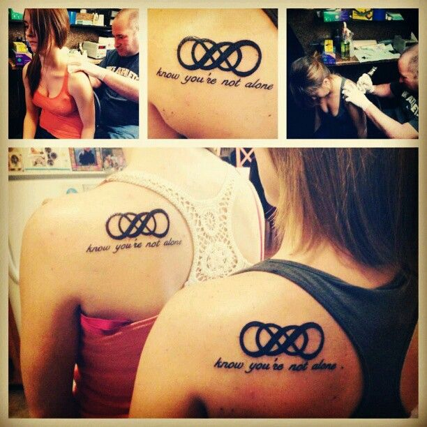 """Officially crossing off """"get a matching tattoo with my sister"""" from my list."""