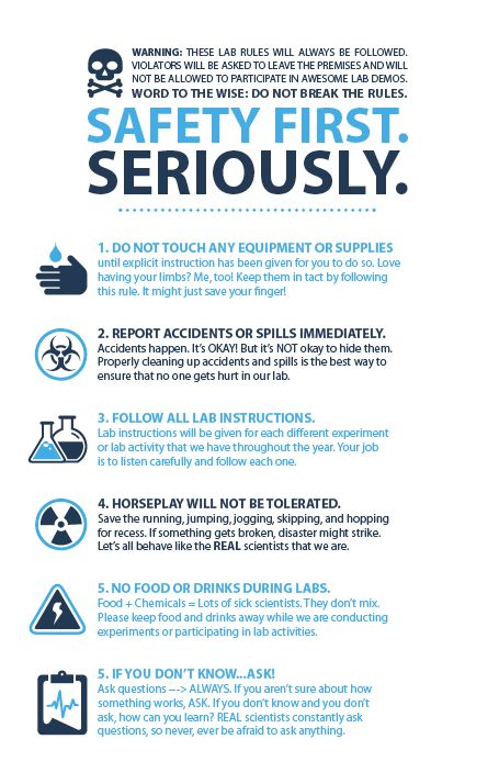 My Lab Safety Rules for my fifth grades. @thesciencelife.blogspot.com