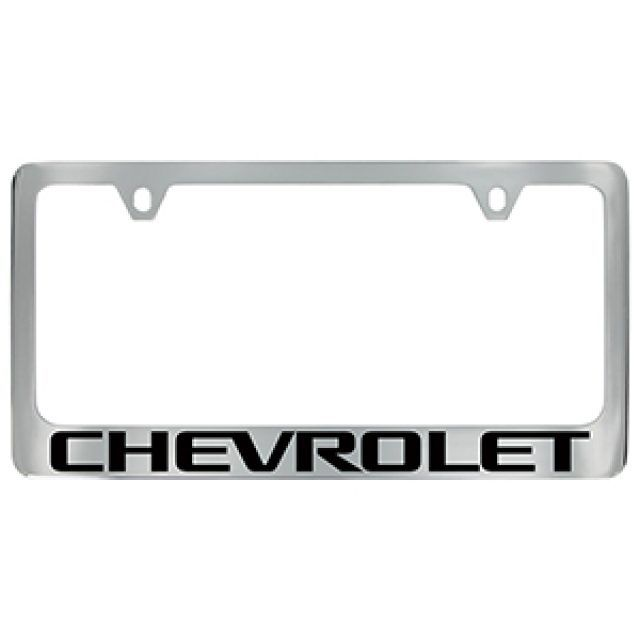 License Plate Frame By Baron Baron In Chrome With Black