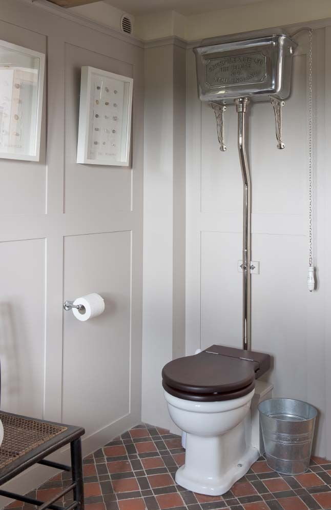 Old fashion toilet.  Wealden Times: A Darling House