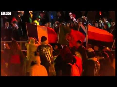 BBC News Thousands meet Pope Francis at Copacabana beach event