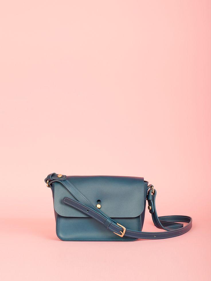 Robin - Indigo Leather Bag, Mimi Berry SS16