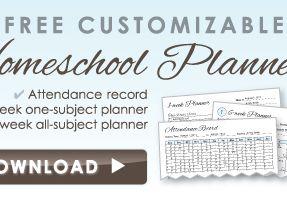 Free Customizable Homeschool Planners