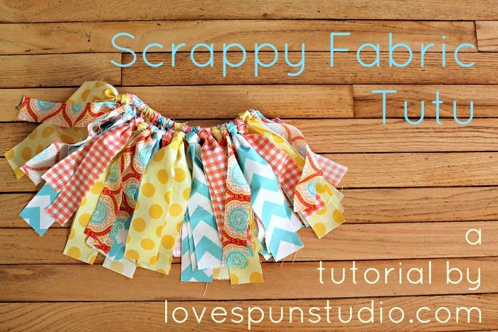 Scrappy Fabric Tutu: A Holiday or Anyday Tutorial