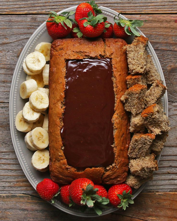 Chocolate Fondue Banana Bread Boat Recipe by Tasty