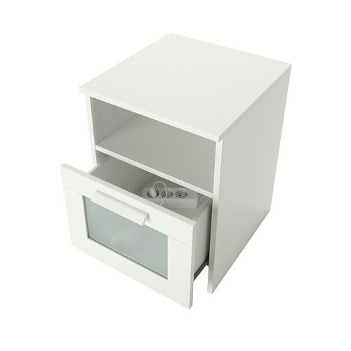 Brimnes nightstand white nightstands power strip and for Ikea brimnes commode 3 tiroirs