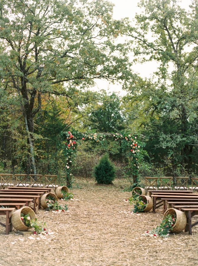 The prettiest rustic ceremony: http://www.stylemepretty.com/2016/04/15/outdoor-wedding-with-show-stopping-florals/ | Photography: Apryl Ann -  http://www.aprylann.com/