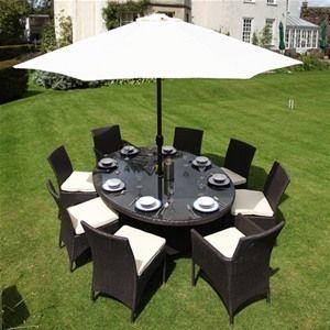 Bramblecrest Rio 8 Seat Elliptical Rattan Garden Furniture Set