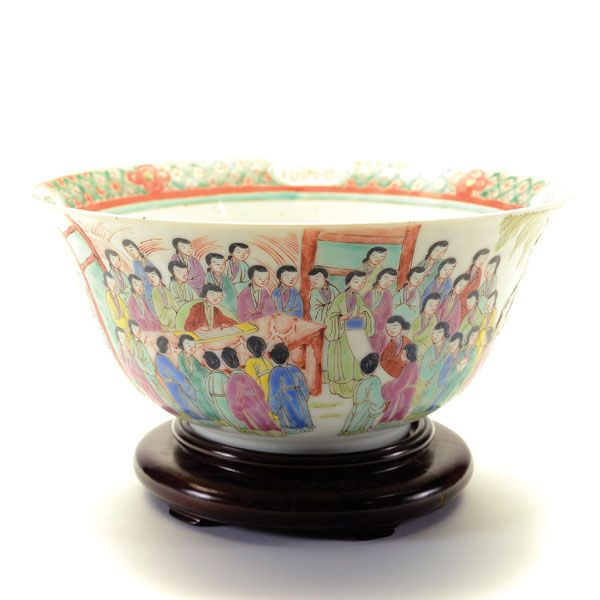 An Enameled Deep Bowl, 19th Century #michaans http://www.michaans.com/highlights/2015/highlights_05092015.php