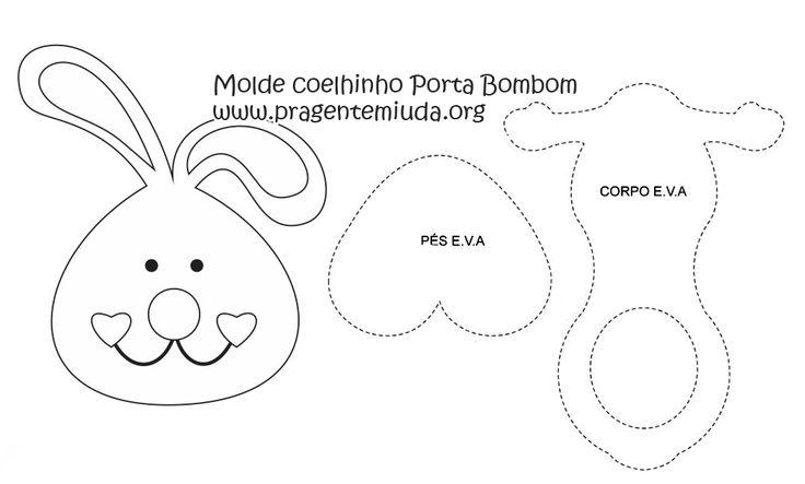 Lembrancinha - Coelhinho porta bombom de EVA | Pra Gente Miúda