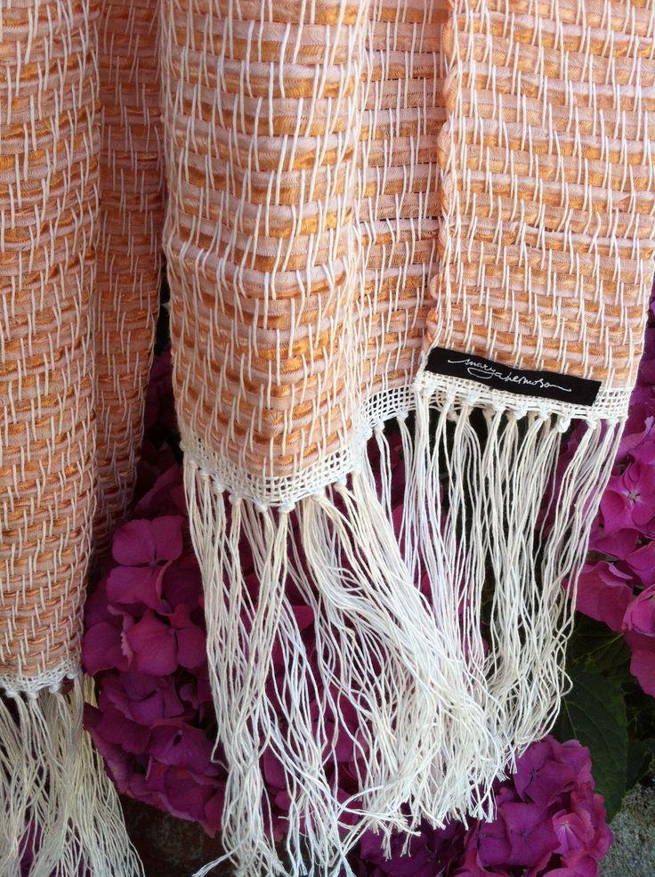 Echarpe de cinta y lino