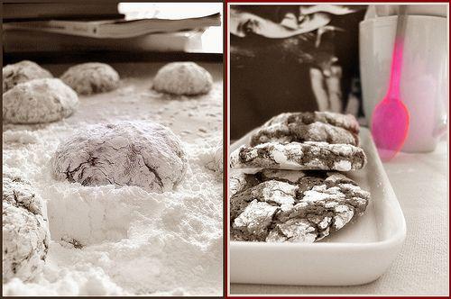 Biscotti fondenti al cioccolato