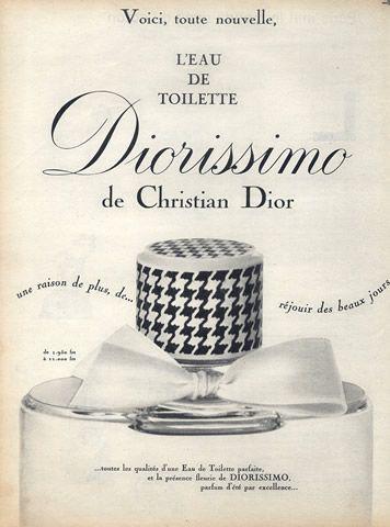 Christian Dior (Perfumes) 1959 Diorissimo Vintage advert Perfumes | Hprints.com