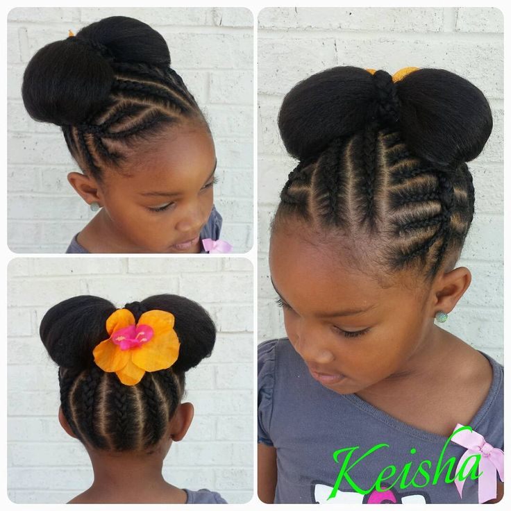 335 best Buns images on Pinterest | Black girls hairstyles ...