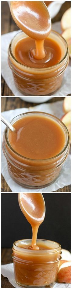 Homemade Salted Caramel Sauce - This easy homemade salted caramel sauce is perfect for topping on ice cream or almost any dessert!