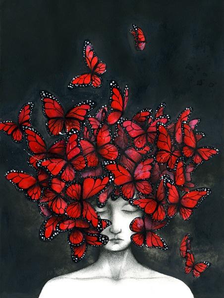 mariposas rojas - ANA JUAN
