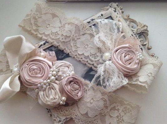 Vintage Bridal Garter Set by CozetteCouture on Etsy, $59.99