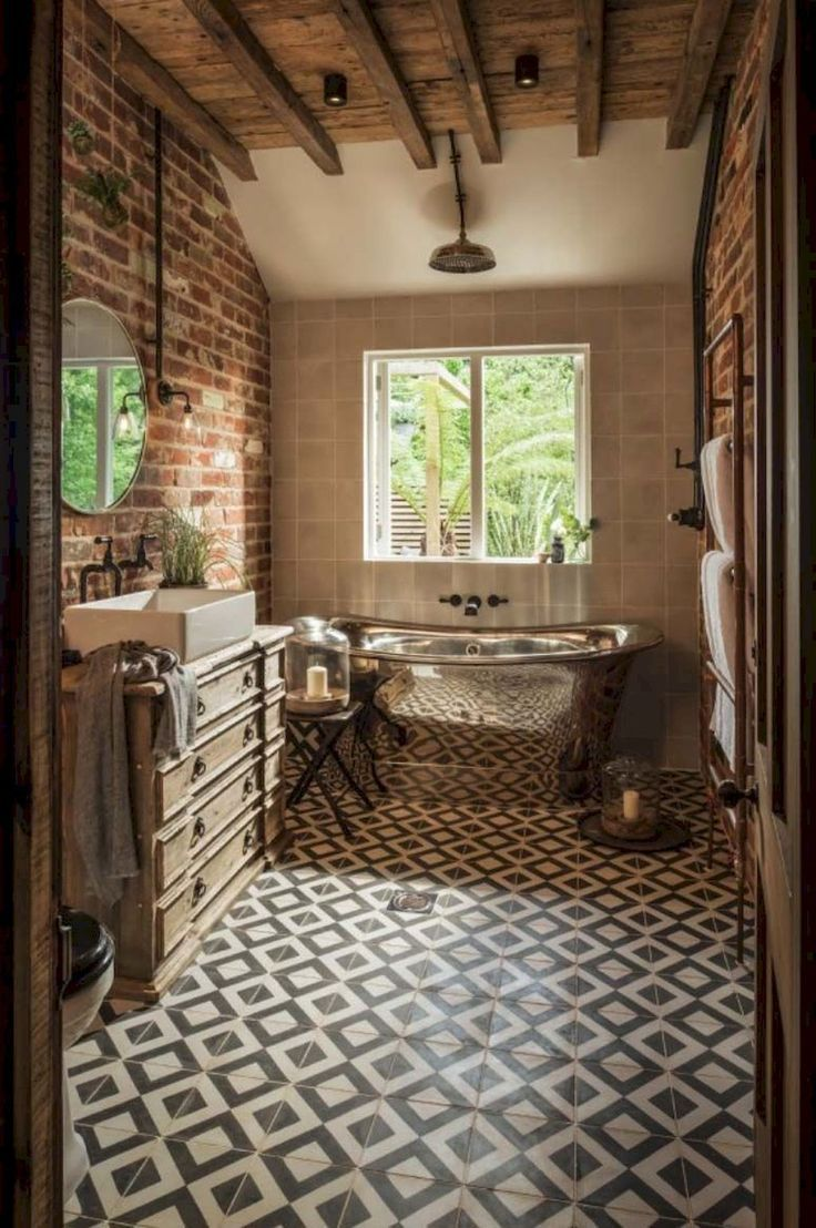 85 Modern Farmhouse Bathroom Design Ideas #Badezimmer #Design #Bauernhaus #Modern