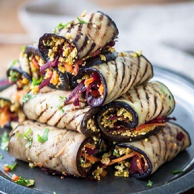 "@cleaneating_vegan's photo: ""How amazing do these eggplant quinoa roll ups look! Such a great recipe idea ! #vegans #veganism #veganfood #vegetable #organic #whatveganseat #love #delicious #vegansofig #vegansofinstagram #vegandiet #vegetarian #eatclean #cleandiet #cleaneating #vegetablelover #plantbaseddiet #healthy #health #happy #veganfoodshare #veganrecipe #veganlife #healthylife #veganchallenge #animallover #veganforever #veganrecipes #quinoa #eggplant"""