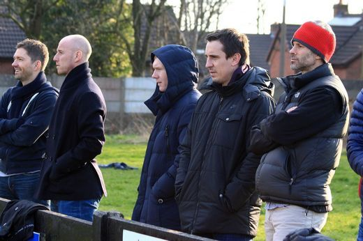 Ryan Giggs, Gary Neville, Nicky Butt and Paul Scholes take time out to watch Salford City FC
