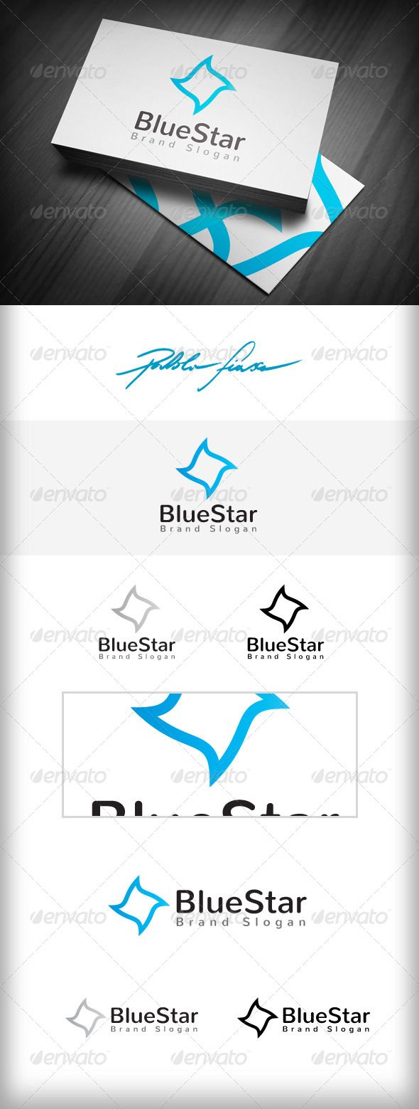 Blue Star Logo  Marketing & Charity Star Logo — Vector EPS #promotions logo #circular • Available here → https://graphicriver.net/item/blue-star-logo-marketing-charity-star-logo/5349293?ref=pxcr