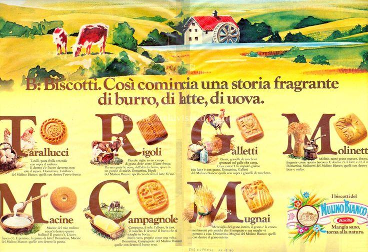 """Pubblicita' stampa della campagna Mulino Bianco """"Alfabeto"""" del 1979"""