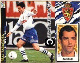 Cromo nº 680 - Quique Flores. Enrique Sánchez Flores foi um antigo defesa direito que se notabilizou em clubes como o Valência, o Real Madrid e o Saragoça (clube em que terminou a carreira de futebolista, em 1997). Foi 15 vezes internacional A pela selecção espanhola e foi treinador do S.L. Benfica.
