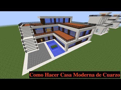 25 melhores ideias de casas minecraft modernas no for Casa moderna jardin d el menzah