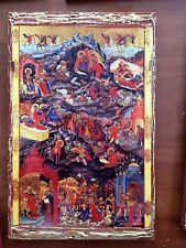 The birth of Jesus - handmade Greek orthodox Russian byzantine icon