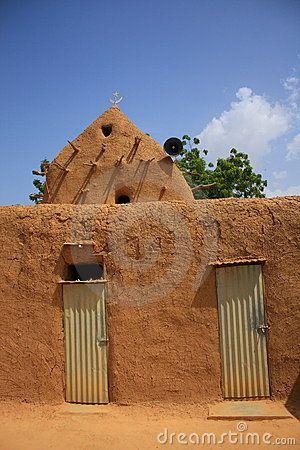 Afrikaanse moskee van de stammen van bambara in Mali