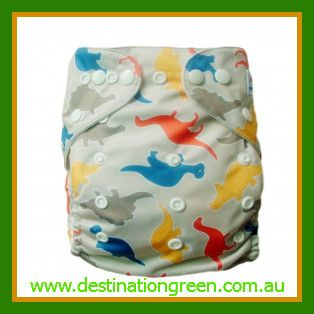 Modern Cloth Nappy - Dinosaurs, $14.95