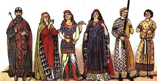Женский костюм в западной европе в средние века