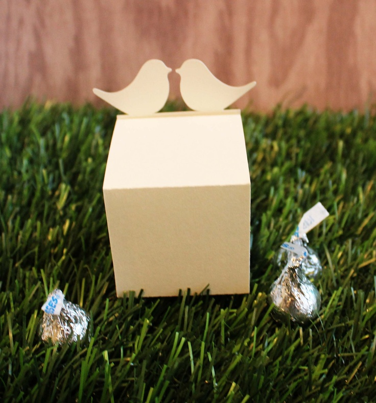 Wedding Favor Boxes Love Birds Set of 25. $33.75, via Etsy.