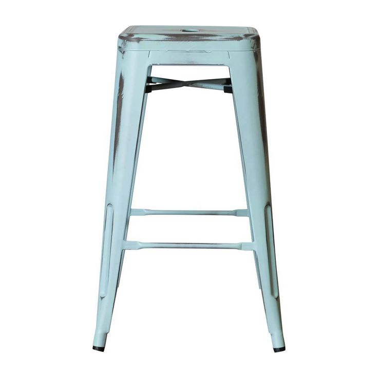 Browse Industrial Bar Stools Online or Visit Our Showrooms To Get Inspired With The Latest Bar Stools From Life Interiors - Paris Bar Stool (Antique Blue)