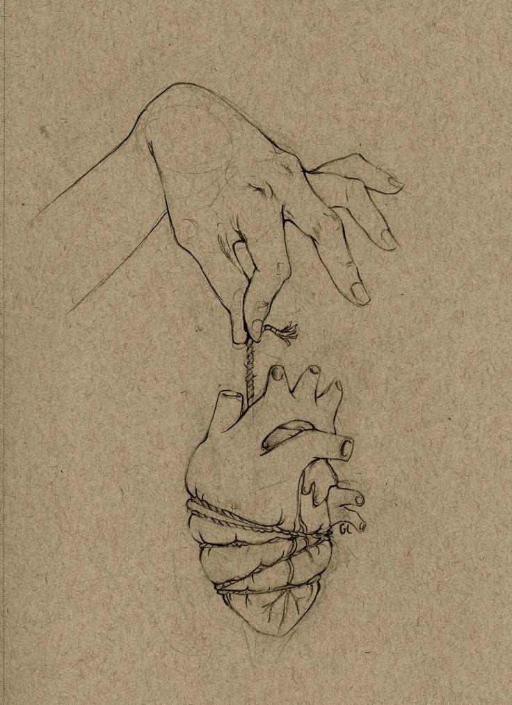 Artist Gabriela Lutostanski. Heartstring Print
